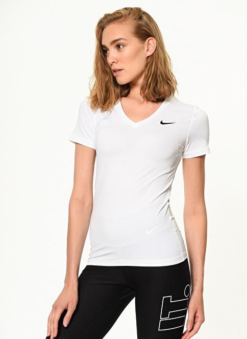 Nike V Yaka Tişört Beyaz